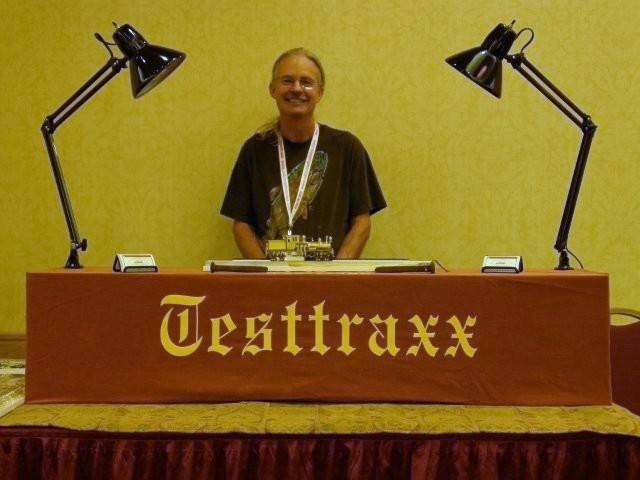 The NEW professional Testtraxx, On2 Overland Gilpin Shay #5 and me at the 2009 National Narrow Gauge Convention in Colorado Springs, Colorado...