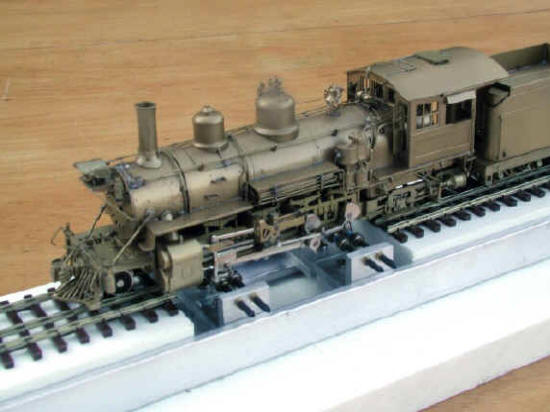A PFM/United Hi Grade D & R G W 2-8-2 K-27 running ever so sweetly upon a style 2.0 HO/HOn3 Dual gauge Testtraxx...